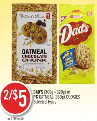 Dad's (300g - 320g) or PC Oatmeal (350g) Cookies
