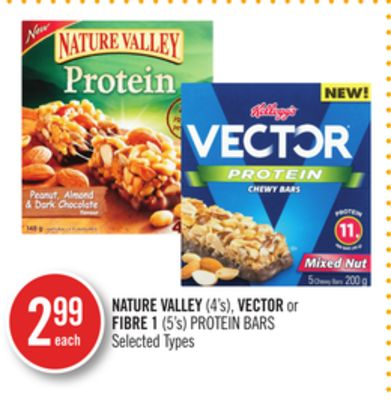 Nature Valley (4's) - Vector or Fibre 1 (5's) Protein Bars