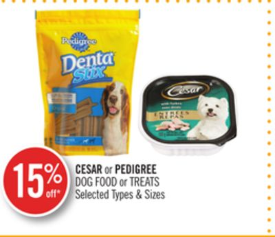 Cesar or Pedigree Dog Food or Treats