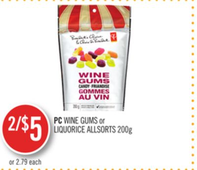 PC Wine Gums or Liquorice Allsorts 200g