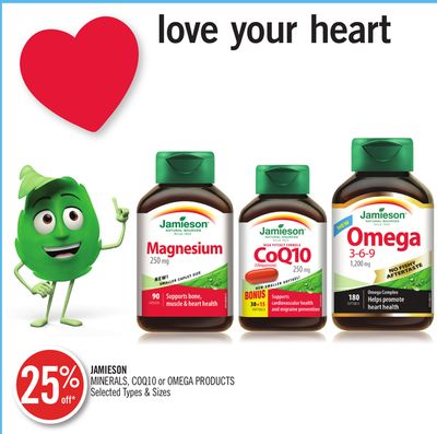 Jamieson Minerals - Coq10 or Omega Products