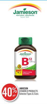 Jamieson Vitamin B Products