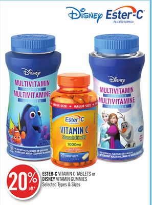 Ester-c Vitamin C Tablets or Disney Vitamin Gummies
