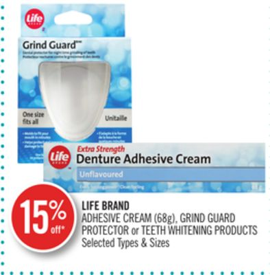 Life Brand Adhesive Cream (68g) - Grind Guard Protector or Teeth Whitening Products