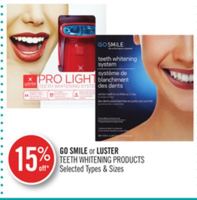 Go Smile or Luster Teeth Whitening Products