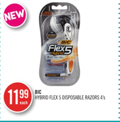 Bic Hybrid Flex 5 Disposable Razors