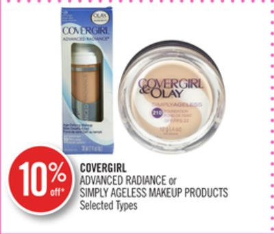 Covergirl Advanced Radiance or Simply Ageless Makeup Products