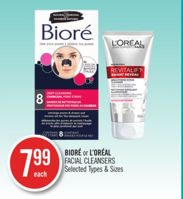Bioré or L'oréal Facial Cleansers