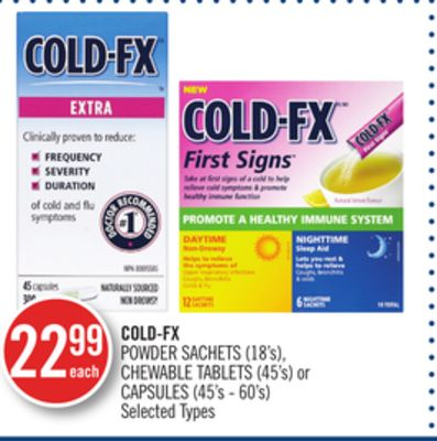 Cold-fx Powder Sachets (18's) - Chewable Tablets (45's) or Capsules (45's - 60