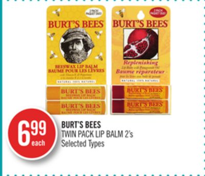 Burt's Bees Twin Pack Lip Balm