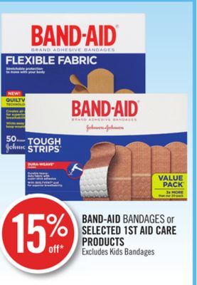 Band-aid Bandages or Selected 1st Aid Care Products