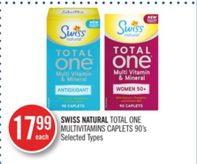 Swiss Natural Total One Multivitamins Caplets