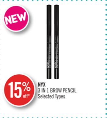 Nyx 3 In 1 Brow Pencil