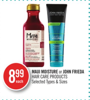 Maui Moisture or John Frieda Hair Care Products