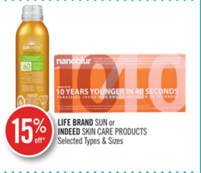 Life Brandsun or Indeed Skin Care Products
