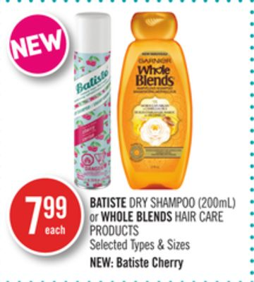 Batiste Dry Shampoo (200ml) or Whole Blends Hair Care Products