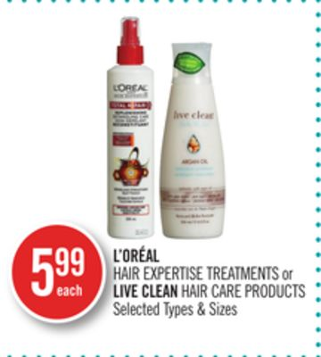 L'oréal Hair Expertise Treatments or Live Clean Hair Care Products