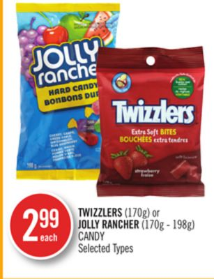 Twizzlers (170g) or Jolly Rancher (170g - 198g) Candy