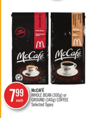 Mccafé Whole Bean (300g) or Ground (340g) Coffee