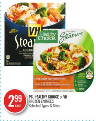 Pc.healthy Choice or VH Frozen Entrées