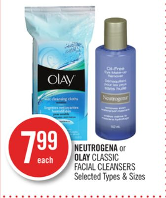 Neutrogena or Olay Classic Facial Cleansers