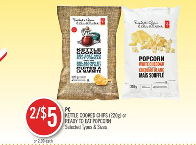 PC Kettle Cooked Chips  220g  or Ready To Eat Popcorn