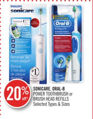 Sonicare - Oral-b Power Toothbrush or Brush Head Refills