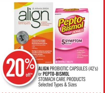 Align Probiotic Capsules (42's) or Pepto-bismol Stomach Care Products
