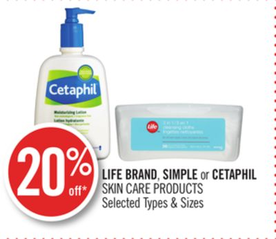 Life Brand - Simple or Cetaphil Skin Care Products