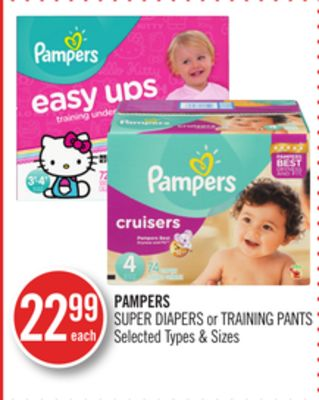 Pampers Super Diapers or Training Pants