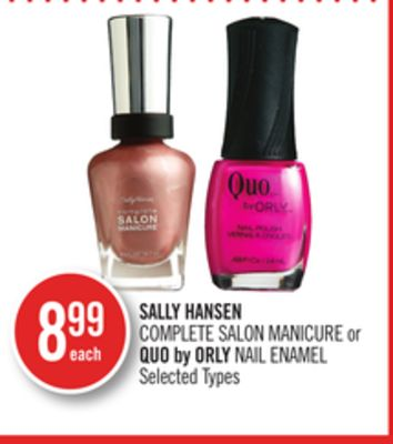 Sally Hansen Complete Salon Manicure or Quo By Orly Nail Enamel
