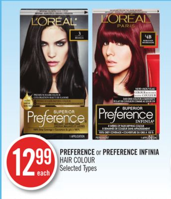 L'oreal Preference or Preference Infinia Hair Colour