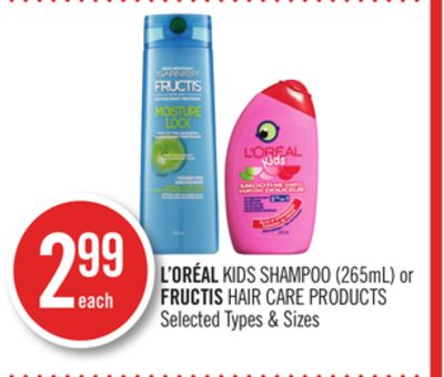 L'oréal Kids Shampoo (265ml) or Fructis Hair Care Products