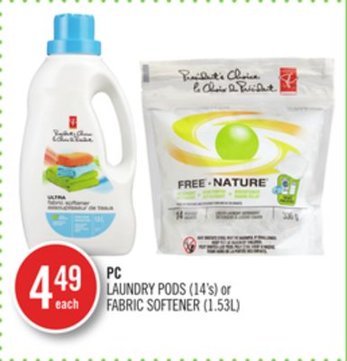 PC Laundry PODS (14's) or Fabric Softener (1.53l)