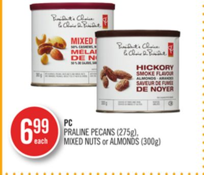 PC Praline Pecans (275g) - Mixed Nuts or Almonds (300g)