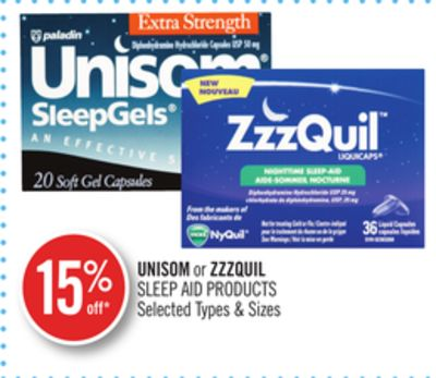 Unisom or Zzzquil Sleep Aid Products