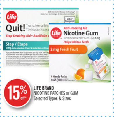 Life Brand Nicotine Patches or GUM