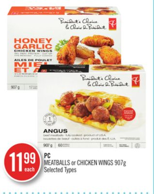 PC Meatballs or Chicken Wings 907g