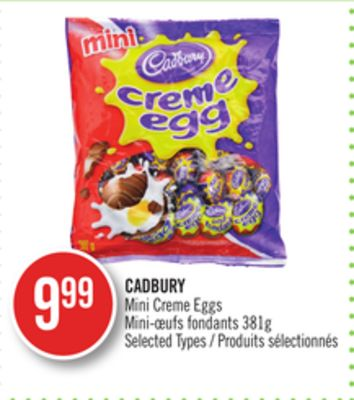 Cadbury Mini Creme Eggs on sale | Salewhale.ca