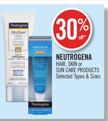 Neutrogena Hair - Skin or Sun Care Products