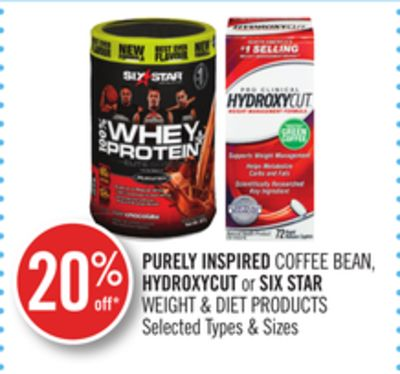 Purely Inspired Coffee Bean - Hydroxycut or Six Star Weight & Diet Products