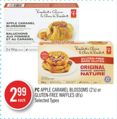PC Apple Caramel Blossoms (2's) or Gluten-free Waffles (8's)