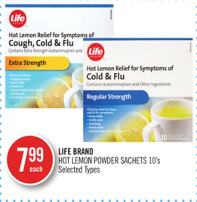 Life Brand Hot Lemon Powder Sachets 10's