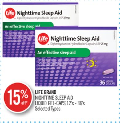 Life Brand Nighttime Sleep Aid Liquid Gel-caps