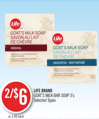 Life Brand Goat's Milk Bar Soap
