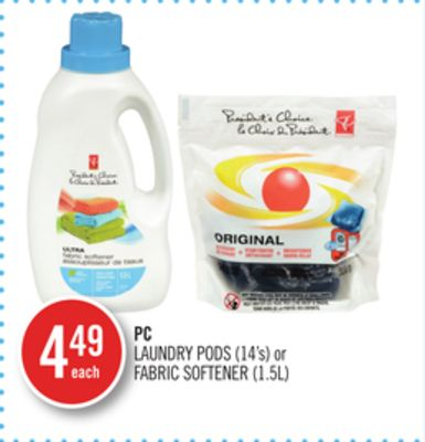 PC Laundry PODS (14's) or Fabric Softener (1.5l)