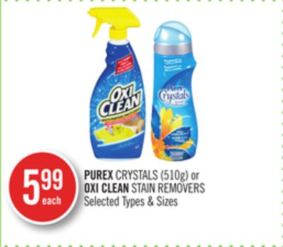 Purex Crystals (510g) or Oxi Clean Stain Removers
