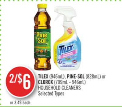 Tilex (946ml) - Pine-sol (828ml) or Clorox (709ml - 946ml) Household Cleaners