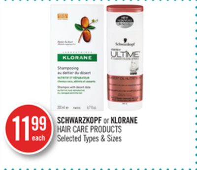 Schwarzkopf or Klorane Hair Care Products