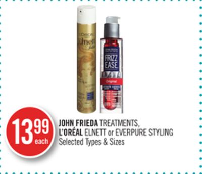 John Frieda Treatments - L'oréal Elnett or Everpure Styling